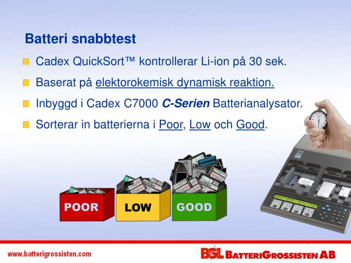 Batteri snabbtest