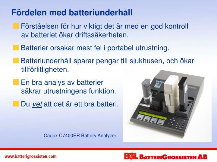 Fördelen med batteriunderhåll