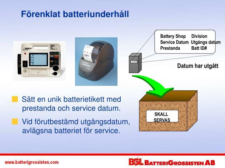 Battery Shop     Division