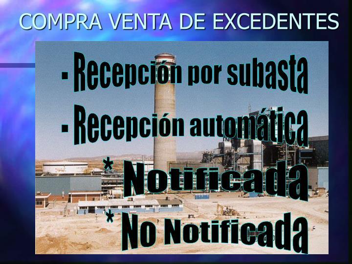 COMPRA VENTA DE EXCEDENTES