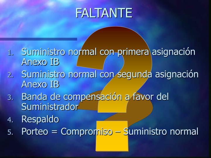 FALTANTE