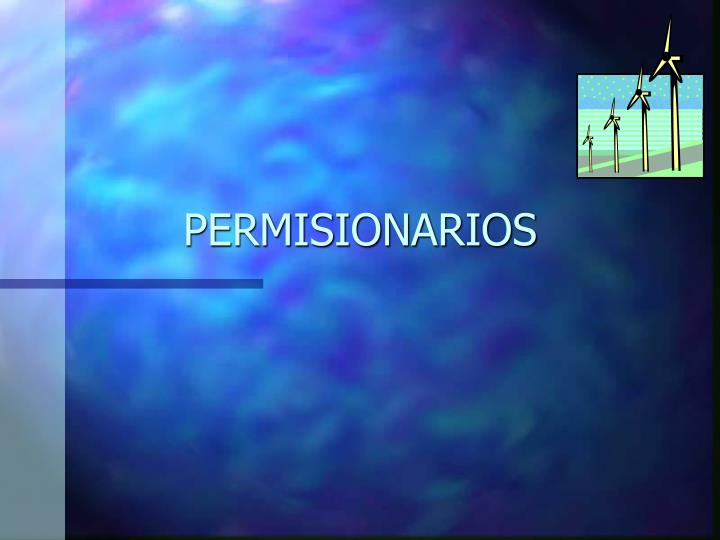 PERMISIONARIOS