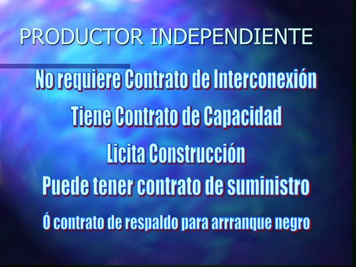 PRODUCTOR INDEPENDIENTE