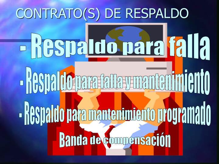 CONTRATO(S) DE RESPALDO