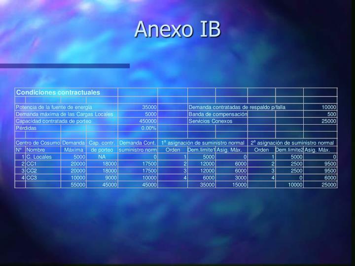 Anexo IB