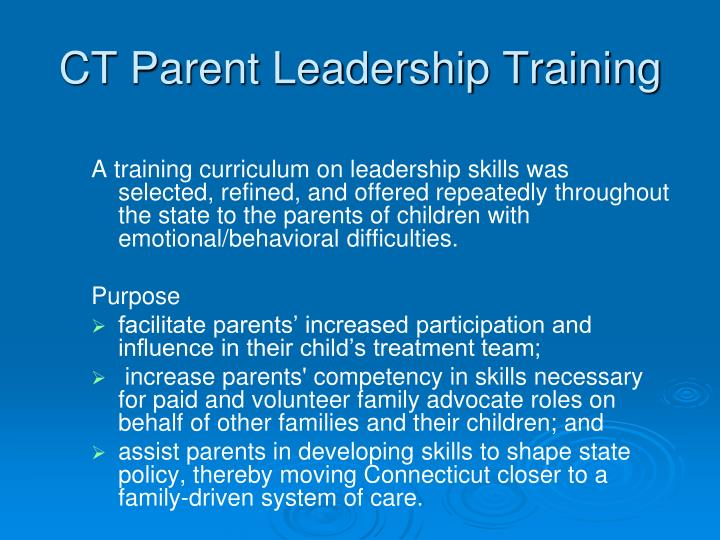CT Parent Leadership Training
