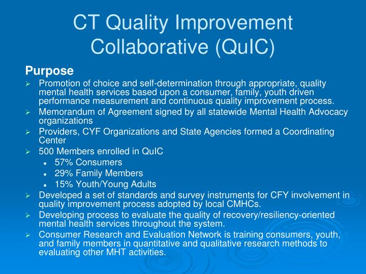CT Quality Improvement Collaborative (QuIC)