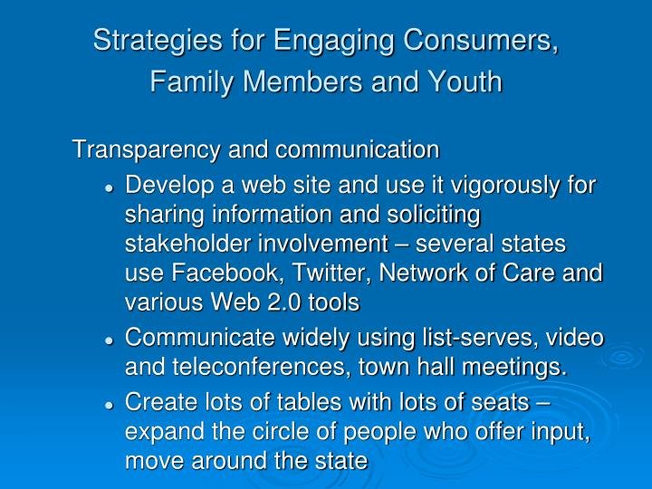 Strategies for Engaging Consumers,