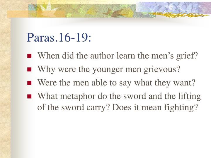 Paras.16-19:
