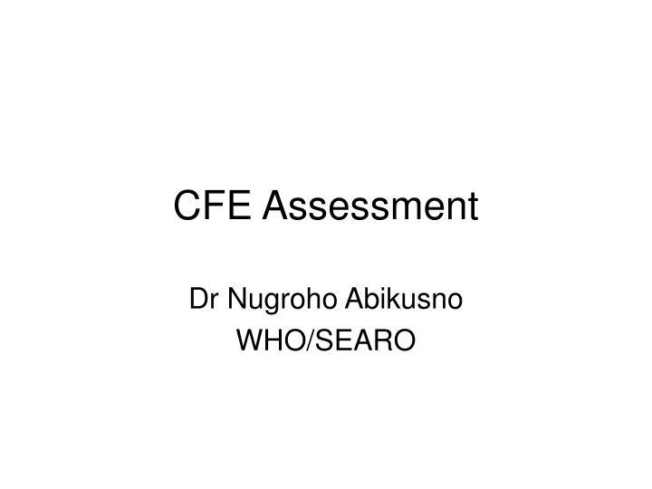 CFE Assessment