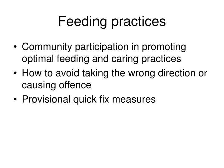 Feeding practices
