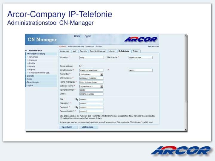 Arcor-Company IP-Telefonie