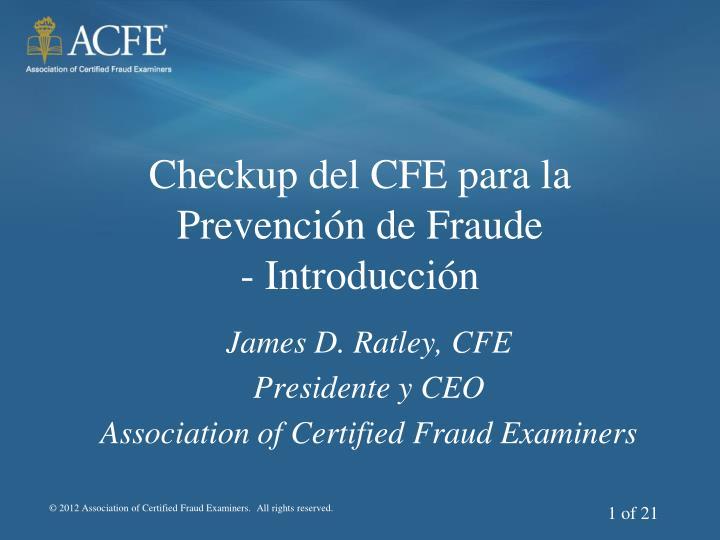 Checkup del CFE para la