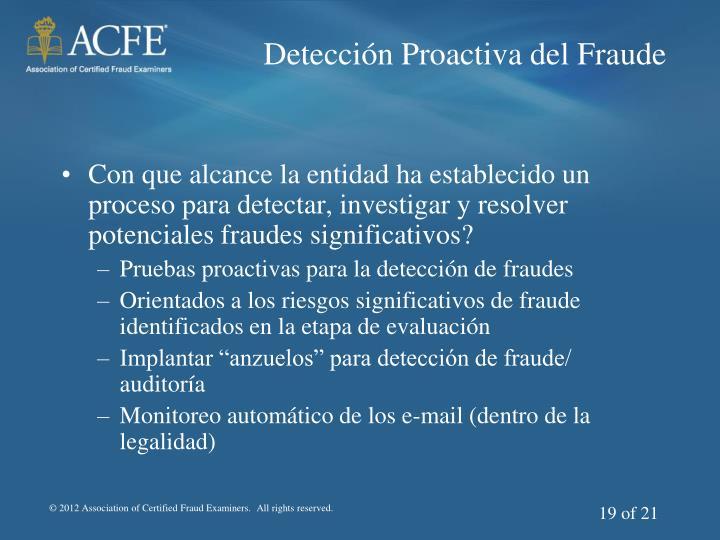 Detección Proactiva del Fraude
