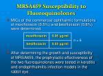 mrsa 659 susceptibility to fluoroquinolones