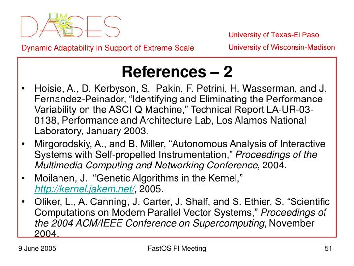 References – 2