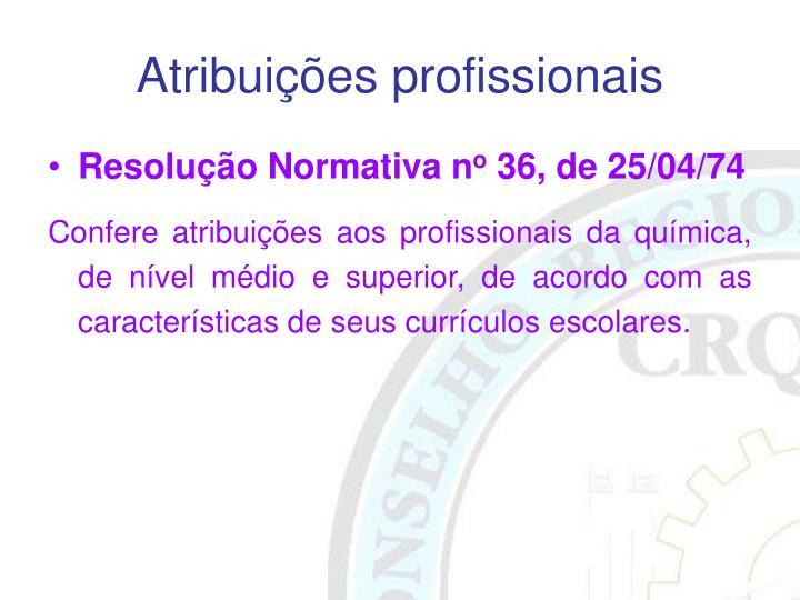 Atribuições profissionais
