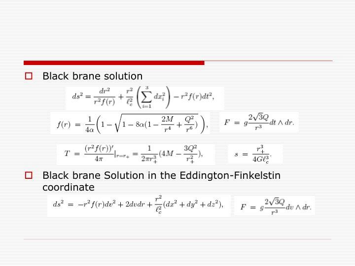 Black brane solution