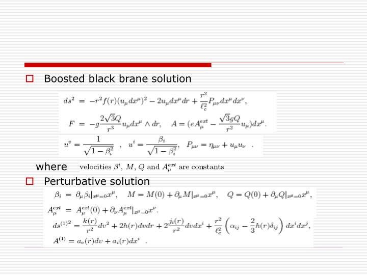 Boosted black brane solution