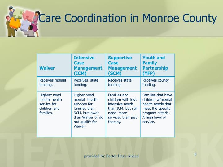 Care Coordination in Monroe County