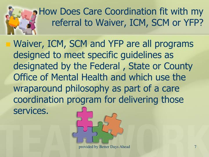 How Does Care Coordination fit with my