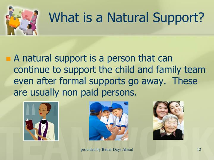 What is a Natural Support?