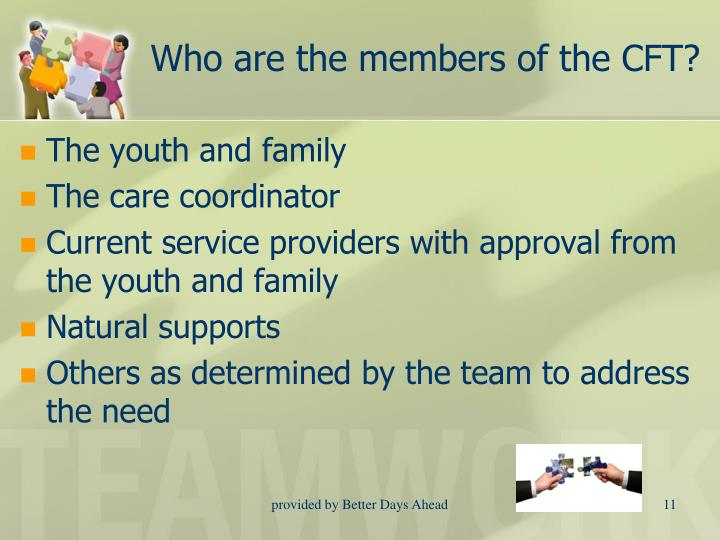 Who are the members of the CFT?