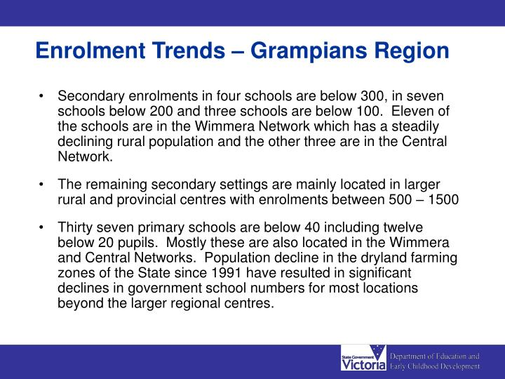 Enrolment Trends – Grampians Region