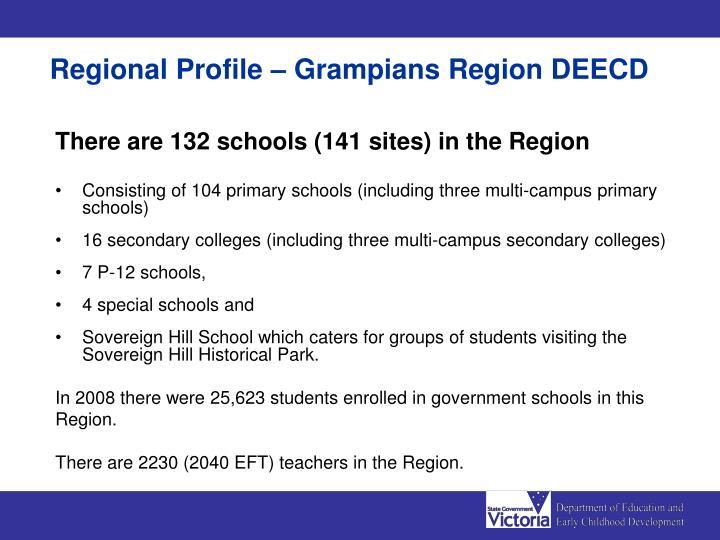 Regional Profile – Grampians Region DEECD