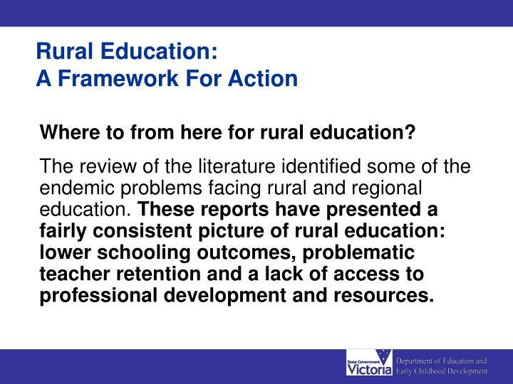 Rural Education: