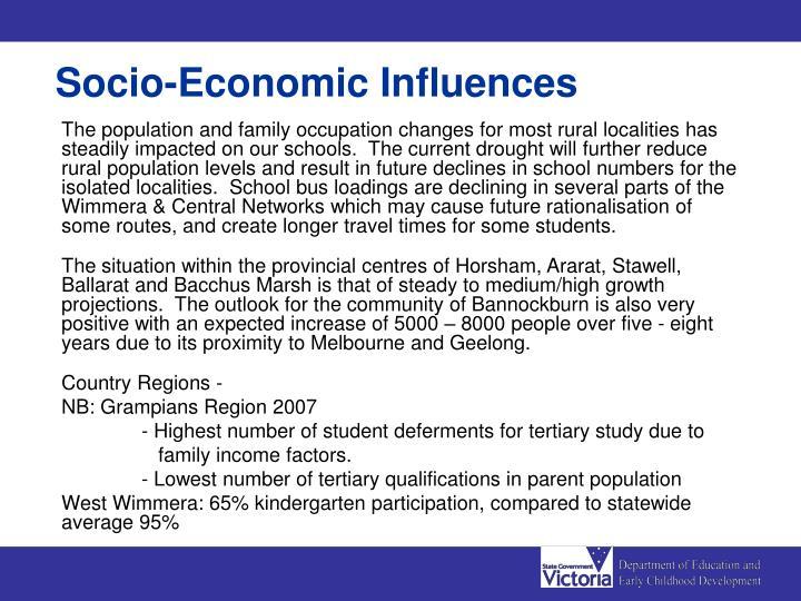 Socio-Economic Influences