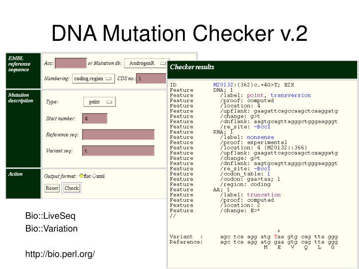 DNA Mutation Checker v.2