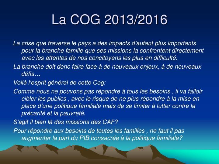 La COG 2013/2016