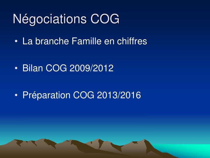 Ngociations COG