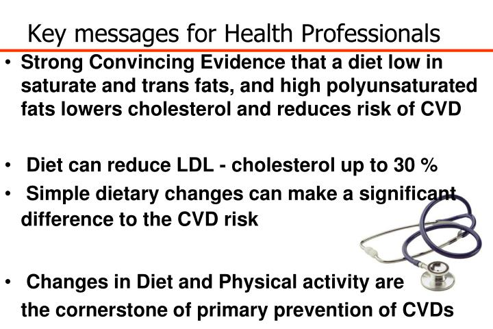 Key messages for Health Professionals