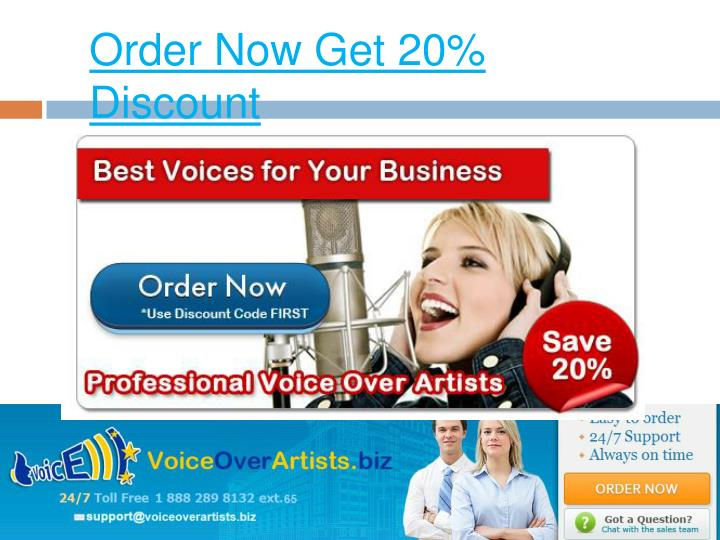 Order Now Get 20% Discount