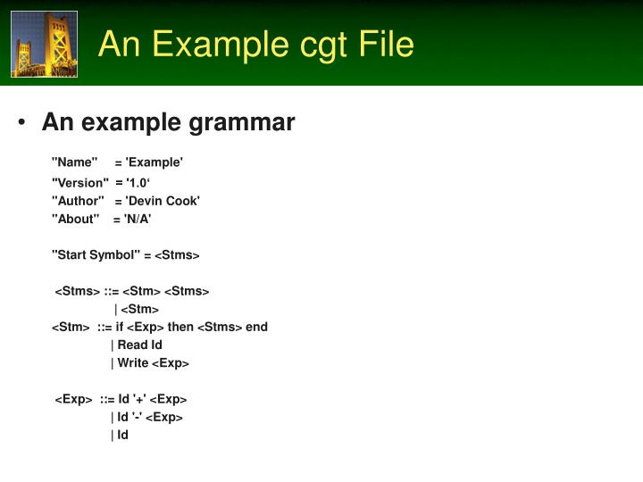 An Example cgt File