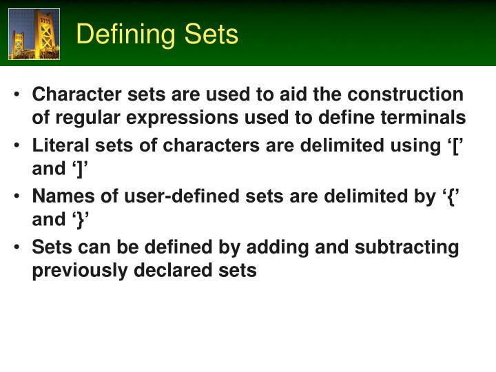 Defining Sets