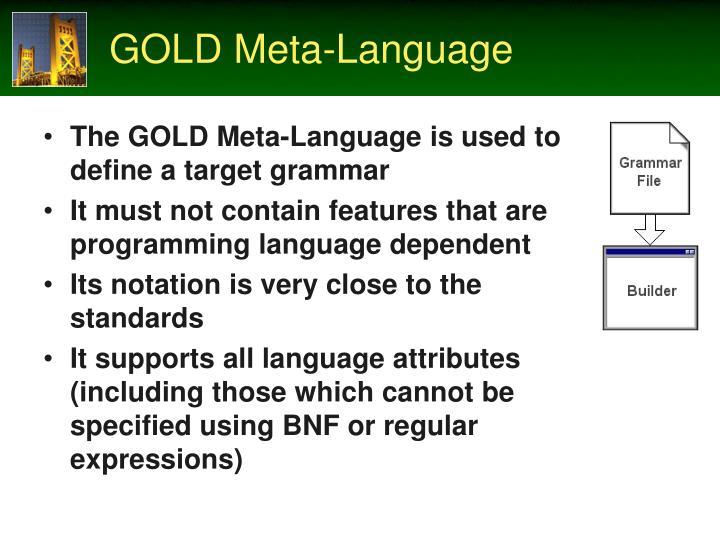 GOLD Meta-Language