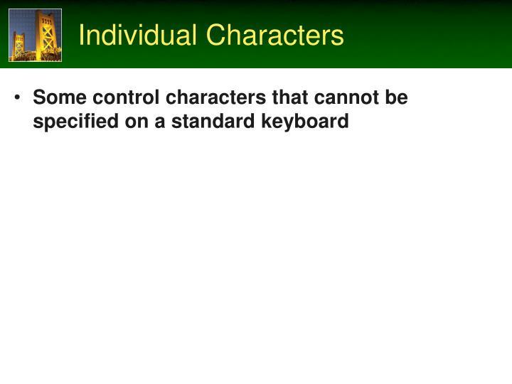 Individual Characters