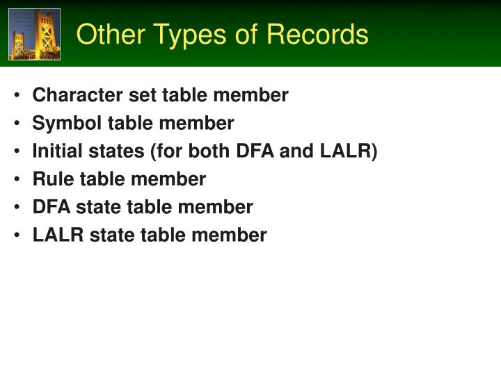 Other Types of Records