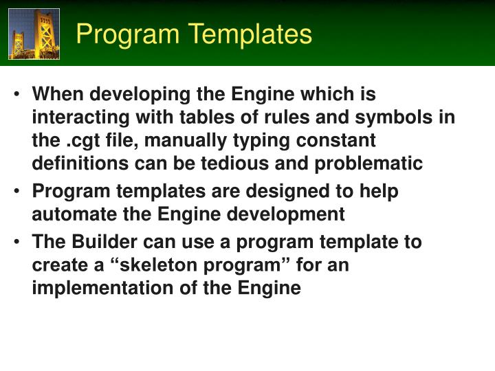 Program Templates