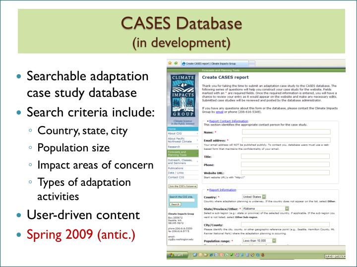 CASES Database