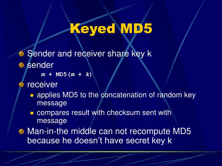 Keyed MD5