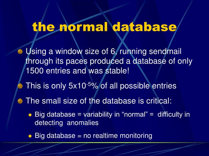 the normal database