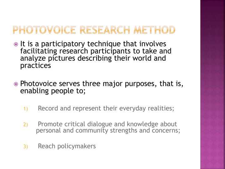 Photovoice research method