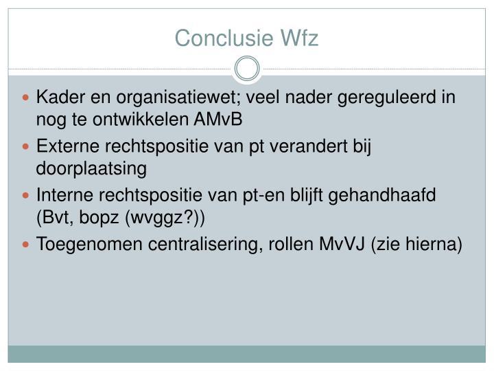 Conclusie Wfz