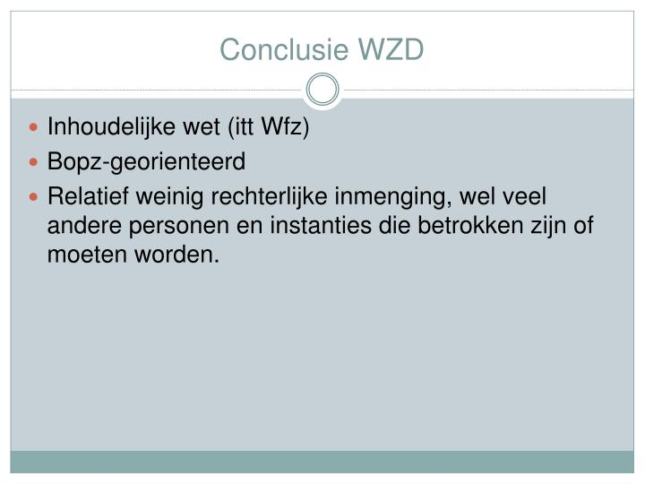 Conclusie WZD
