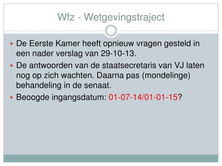 Wfz - Wetgevingstraject