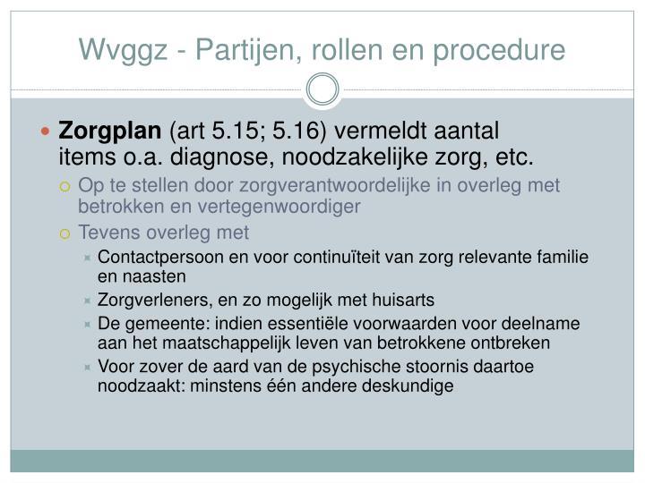 Wvggz - Partijen, rollen en procedure